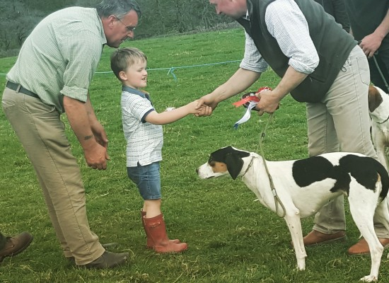 Stanley Welch age 4 presenting the \\\\\\\\\\\\\\\'stanley welch sheild for best hound\\\\\\\\\\\\\\\' North Wales terrier and lurcher club